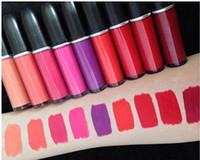 Wholesale 2016 Retro Liquid Lipcolour Collection LAQUE A LEVRES Matte Lip Gloss Long Lasting Lip Gloss Maccosmetic Lady Makeup Lipstick Waterproof