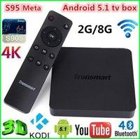 Wholesale Tronsmart Vega S95 Meta Amlogic S905 K Android TV Box XBMC KODI G G OTT G Dual Band WIFI Bluetooth M LAN H