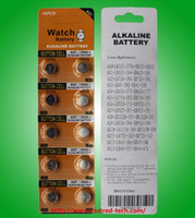 battery powered blisters - 100 Fresh High power per blister card packing v AG7 LR927 A watch button cell batteries