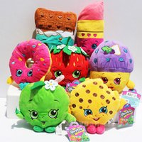 Wholesale styles Fruit Plush Toys Strawberry Apple Cookies Donuts Lipstick Chocolate Muffin Toys for Girl Dolls Stuffed