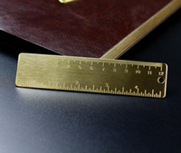 Wholesale Pieces Brand New Arrive Copper Rulers cm Handmade Retro Portable Scale Small Metal Rulers Pocket Ruler School