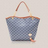 Wholesale 2015 women handbag women shoulder bag chains canvas designer tassel brand women messenger bag black fashion women tote