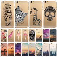 animals plastic bags - Fundas Phone Case Cover For iPhone s quot Ultra Soft TPU Silicon Transparent Flowers Animals Scenery Mobile Phone Bag Cover