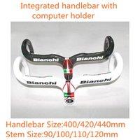 bianchi handlebars - Hot Bianchi Carbon Bicycle Integrated Handlebar With Computer Holder Carbon Bike Handlebar mm mm