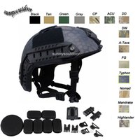 Wholesale Outdoor Gear Airsoft Paintabll Shooting Helmet Head Protection Gear ABS Simple Version PJ Fast Tactical Airsoft Helmet