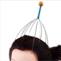 Wholesale Octopus Head Scalp Neck Equipment Stress Release Relax Massage Claw Massager Tens Pain Relief Body Massager hight quality