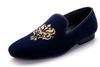 animal print party dress - 2016 European style Men Loafers Embroidery Men Velvet Shoes Men s Flats Slippers Mens Wedding and Party Shoes Red Velvet Slippers moccasins