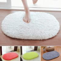 Wholesale Soft Absorbent Plush Sponge Bedroom Bath Bathroom Shower Floor Door Mat Rug Non slip Oval Carpet