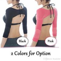 Wholesale Women Correct Posture Back Slim Arm Slimming Shapewear Top Shoulder Humpback Prevent Long Sleeve Shaper Micro Wave Massage Shapewear NAR092