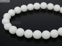 alabaster stone - Natural Matte White Alabaster mm Frosted Gems stones Round Ball Loose Spacer Beads Strands Pack