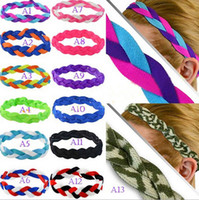 american football band - New hot European and American popular sport with braided hair headband yoga headband hair band running football slip hair accessories