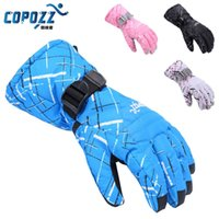 Wholesale Copozz Brand Men Women Skiing TPU Waterproof Bag Ski Gloves Motorcycle Winter Snowmobile Snowboard Gloves Warm Thick Gloves