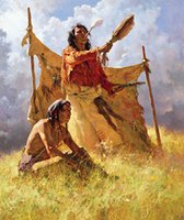 art weather - WEATHER DANCER DREAM by Howard Terpning Genuine Handpainted Portrait Art Oil Painting On Canvas in customized size accepted