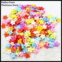 apparel sewing button - Hot sale Mixed Color star Hole Resin Button Fit Sewing Scrapbooking Apparel Sewing Garment accessories