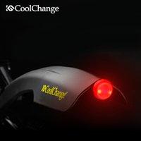 Wholesale CoolChange Flectional Bike MTB Front Rear LED Mudguard Set Bike Bicycle Fender plastic Quick Release with led light