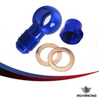 banjo adapter - PQY RACING ALUMINUM BLUE Fuel Pump AN6 to MM Outlet Banjo Adapter Fitting Cap PQY FK045BL