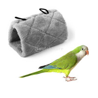 Wholesale Gray Parrot Bird Hammock Hanging Cave Cage Plush Snuggle Happy Hut Tent Bed Bunk Parrot Toy M
