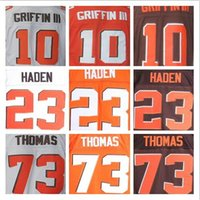 Wholesale 2016 Men s Elite Robert Griffin III jerseys orange Team Color Stitched White Jersey Joe Haden Sports Jerseys Embroidery Logo