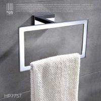 Wholesale Han Pai Brass Bathroom Accessories Towel Rack Holder Rings Chrome Finished Wall Mounted Bath Acessorios de banheiro HP7757