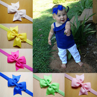 animal head pictures - 12 colors Children s hair accessories baby hair band head flower bow chiffon dovetail elastic fabric flowers pictures Headwear