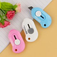 Wholesale 1pcs Office to Learn Supplies Utility Knife Cute Stationery Cutting Knifes Stainless Steel Paper Cutter Escolar Papelaria