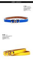 auger s - New female money belt set auger han edition contracted fine autumn decoration H letter hundred small belt tie in dress pants