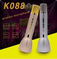 Wholesale 2016 Newest K088 Wireless Microphone microphone with Mic Speaker Condenser Mini Karaoke Player KTV Singing Record Factory Price Japan