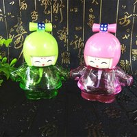 Wholesale Lovely cartoon doll ml filling pump nozzle spray bottle perfume bottle glass bottle perfume bottle empty bottle