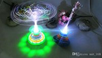 battle music - Crown new electric flash music gyro with fiber optic lights UFO LED toys manufacturers night market stall