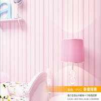 Wholesale Freeshipping Nursery Kid s Room wallpaper Pink stripe health wallpaper