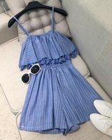 venda por atacado mini plaid skirt-Saia xadrez Macacões para as mulheres praia vestidos de verão Mulher Sexy Mini Vestido Halter Azul Branco FloralPencil Saia Praia encobrimentos q33wqy