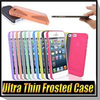 Plastic pp plastic case - 0 mm Colorful Slim Matte Frosted Transparent Soft PP Cover Case For iPhone SE S S Plus Cases Samsung Galaxy J1 J5 J7 E5 E7 A310 A510
