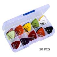 Wholesale Top Quality Acoustic Electric Guitar Picks Plectrums Plastic Picks Box Case
