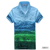 Wholesale M1 Promotions men tops tees d Summer Lapel Three dimensional Drops