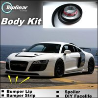 Wholesale For Audi R8 Bumper Lip Front Skirt Deflector Spoiler For Car Tuning The Stig Recommend Body Kit Strip
