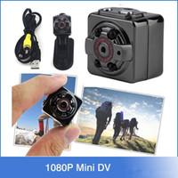 Compra Espía de visión nocturna cámara digital-RRetail HD 1080P 720P deporte espía Mini cámara SQ8 Espia DV Video grabadora de voz infrarrojo de visión nocturna Digital Cam pequeña cámara ocultada