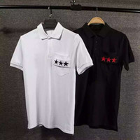 Wholesale New polo shirts for Men s Brand Polo Shirt Men Polos Men Cotton Short Sleeve Embroidered stars stripe shirt sports Polo