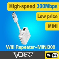 Wholesale Electronic NEW Wireless N Wifi Repeater N B G Network Router Range Expander M Signal Booster VONETS mini300