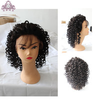 kinky curl lace wig - human hair Capless wigs Brazilian hair lace front wigs with baby hair with natural hairline glueless kinky curl short hair new