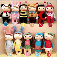 Wholesale 11 Style Children s Metoo Plush Dolls Kids girls Boys lovely stuffed bunny rabbits toys babies gifts