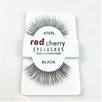 Wholesale 1 Pair Women Lady Real Mink Black Natural Thick False Fake Eyelashes Eye Lashes Makeup Extension Tools L