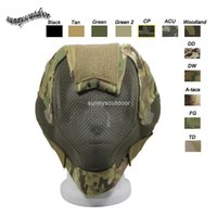 Wholesale Outdoor Airsoft Shooting Face Protection Gear V6 Metal Steel Wire Mesh Full Face Tactical Airsoft Mask