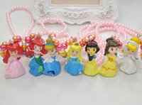 beads for bracelets and necklaces - cartoon princess necklace and bracelet for Little Girls years kid chunky bead necklace pearl necklace kid jewelry