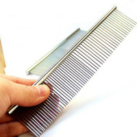Wholesale 2016 Dog cat Pet grooming comb pet supplies product stainless steel Dog Cleaning Grooming