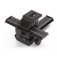 Wholesale Tinyinthebox TM Way Macro Focusing Rail Slider Truck For Nikon CANON Fuji Pentax SLR DSLR DC Camera