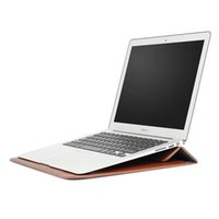 arrival laptop stand - New Arrival Leather Envelope Bag With Stand Holder For Apple Macbook Air quot quot quot Pro Retina