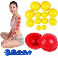 Wholesale 12pcs set Family Body Cupping Massage Helper Anti Cellulite Vacuum Silicone Cupping Cups Chinese Medical Cupping Colors