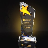 crystal awards and trophies - Crystal Sports Event trophies and awards Customized Five pointed Star DIY Basketball Football Golf Tennis Champions Cup Trophy