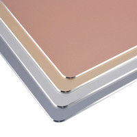 Wholesale Aluminum mouse pad customized metal high gloss non slip can be washed fashion desk pad mm