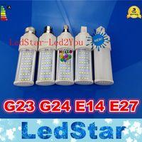 Lampada G23 G24 E27 E14 Led PL Ampoules Lumières 10W 14W 18W 24W Led 85V-265V 2835 LED Corn spot RoHS lumière CE